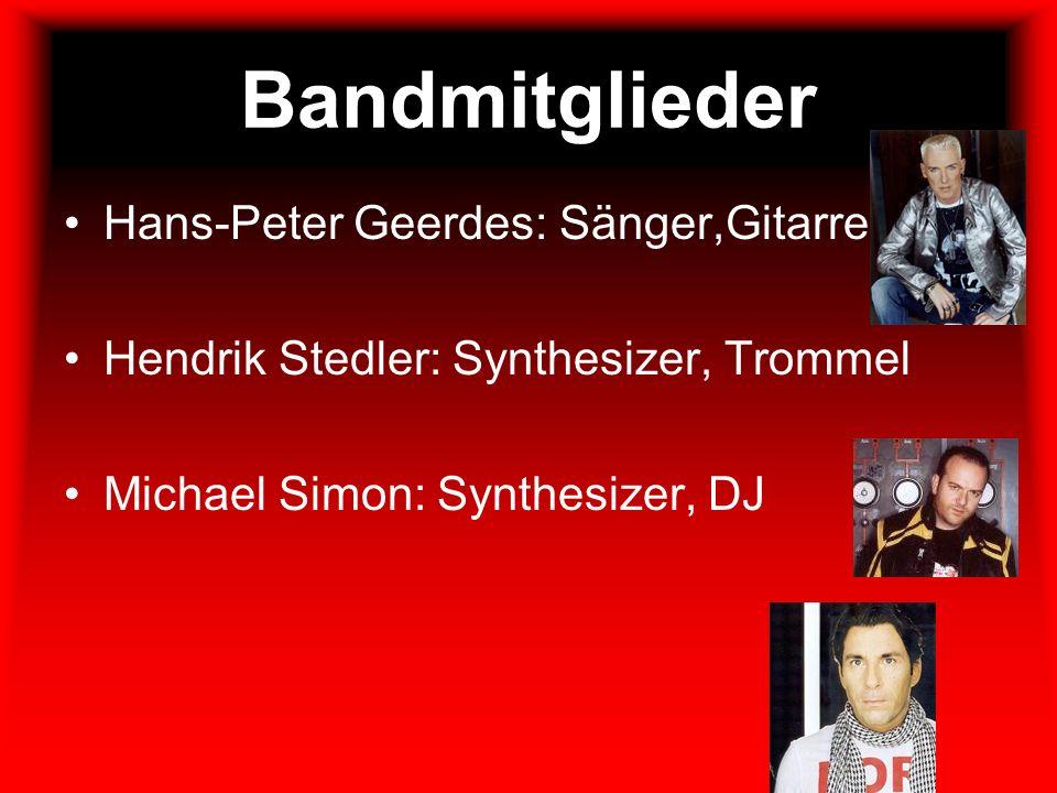 Bandmitglieder Hans-Peter Geerdes: Sänger,Gitarre