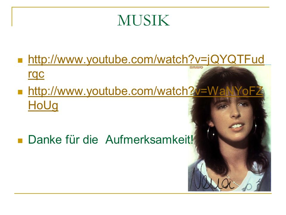 MUSIK http://www.youtube.com/watch v=jQYQTFudrqc