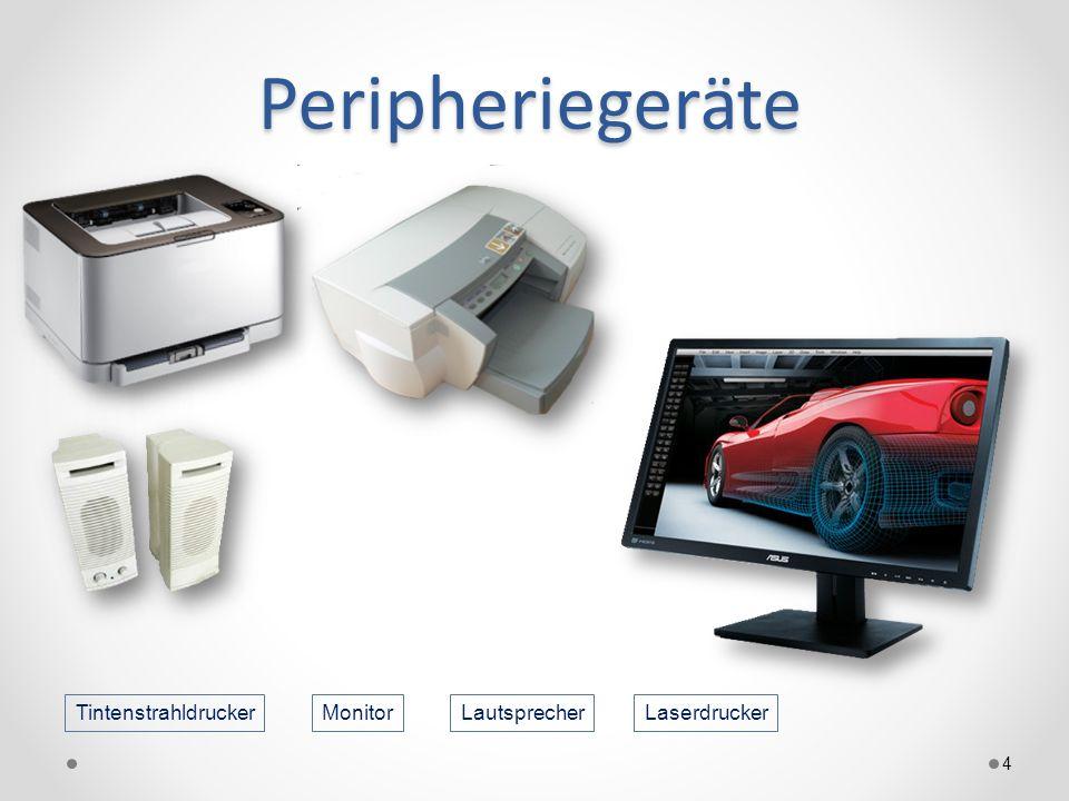 Peripheriegeräte Tintenstrahldrucker Monitor Lautsprecher Laserdrucker