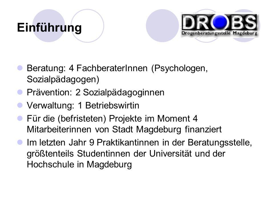 Einführung Beratung: 4 FachberaterInnen (Psychologen, Sozialpädagogen)