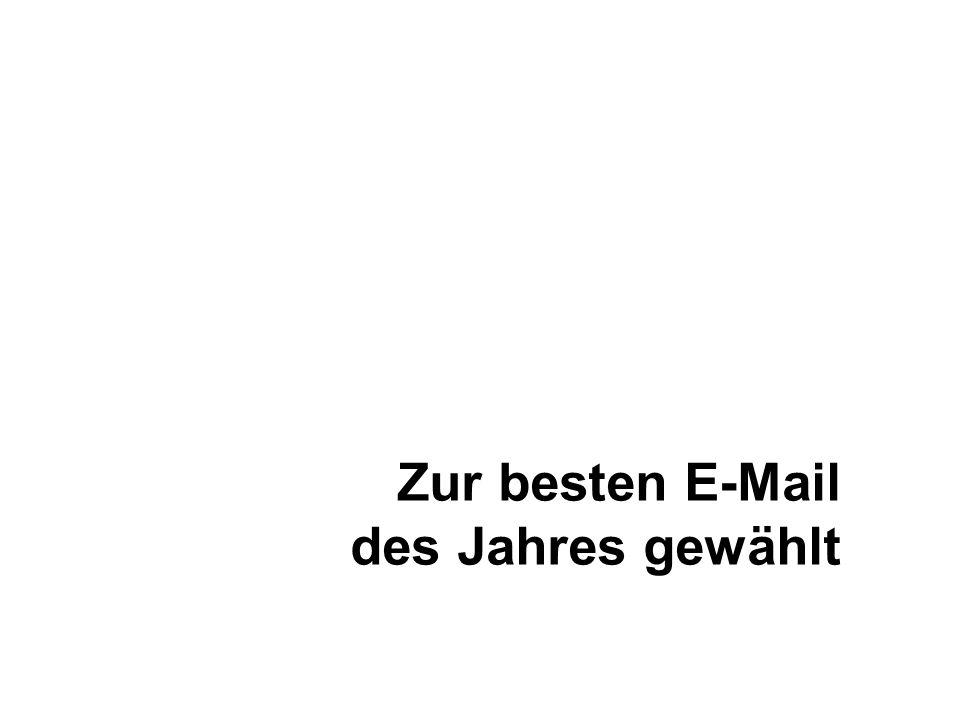 Zur besten E-Mail des Jahres gewählt