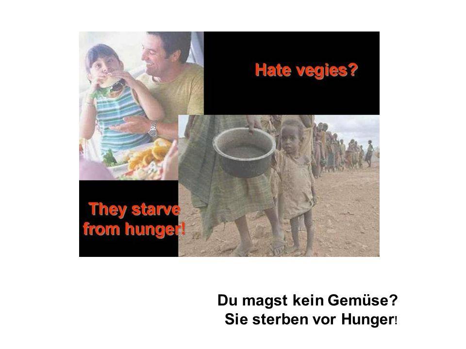 Du magst kein Gemüse Sie sterben vor Hunger!