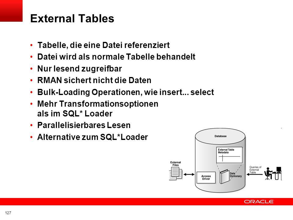 External Tables Tabelle, die eine Datei referenziert