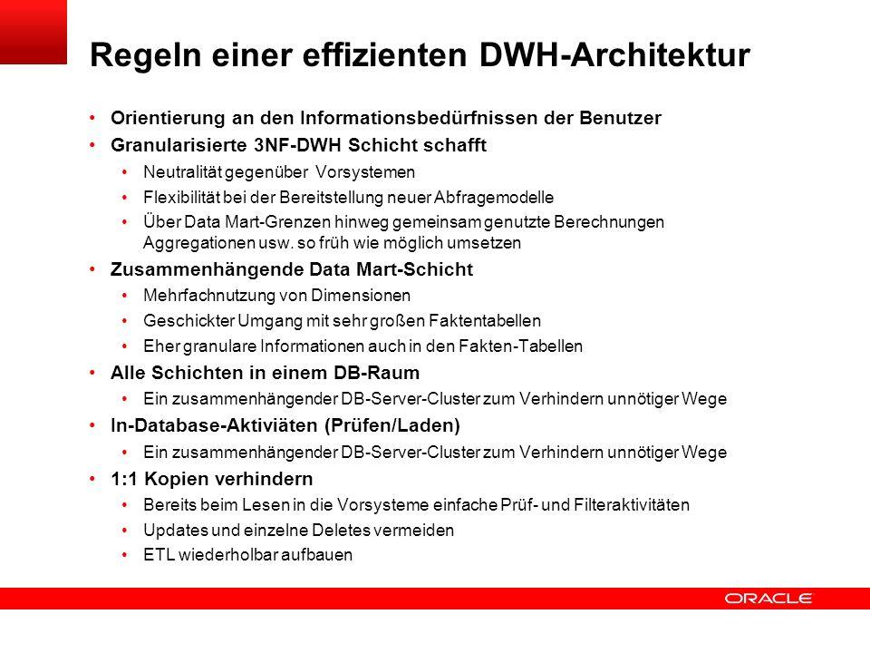 Regeln einer effizienten DWH-Architektur