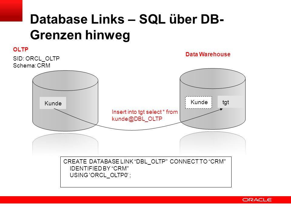 Database Links – SQL über DB-Grenzen hinweg