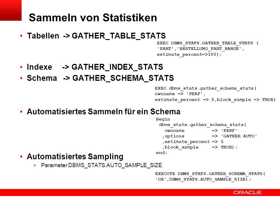 Sammeln von Statistiken