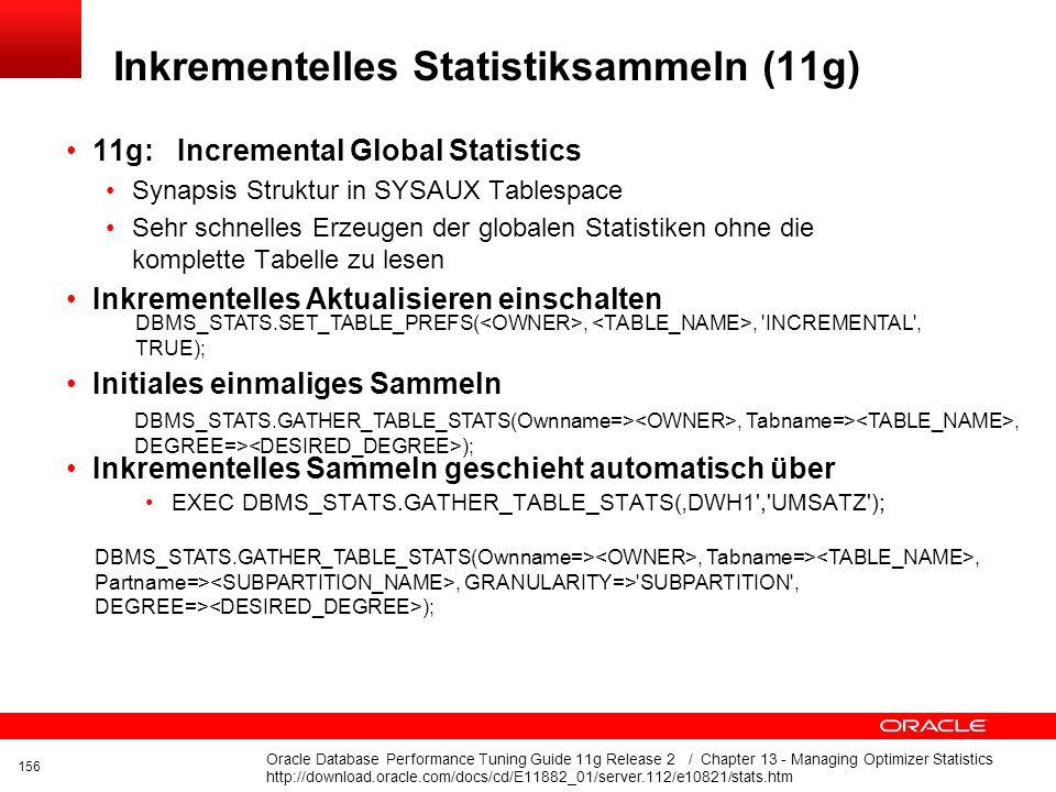 Inkrementelles Statistiksammeln (11g)