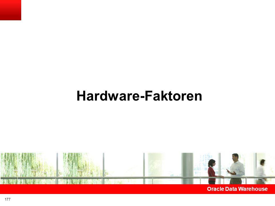 Hardware-Faktoren Oracle Data Warehouse 177