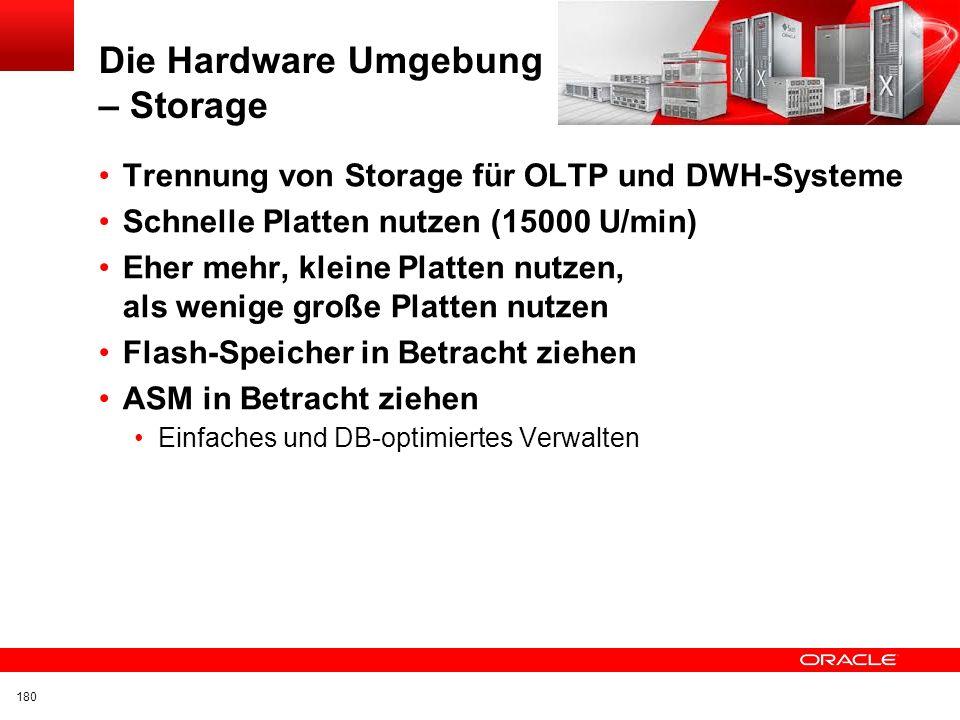 Die Hardware Umgebung – Storage