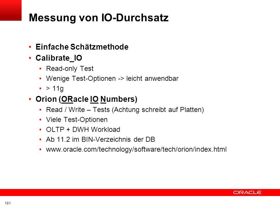 Messung von IO-Durchsatz
