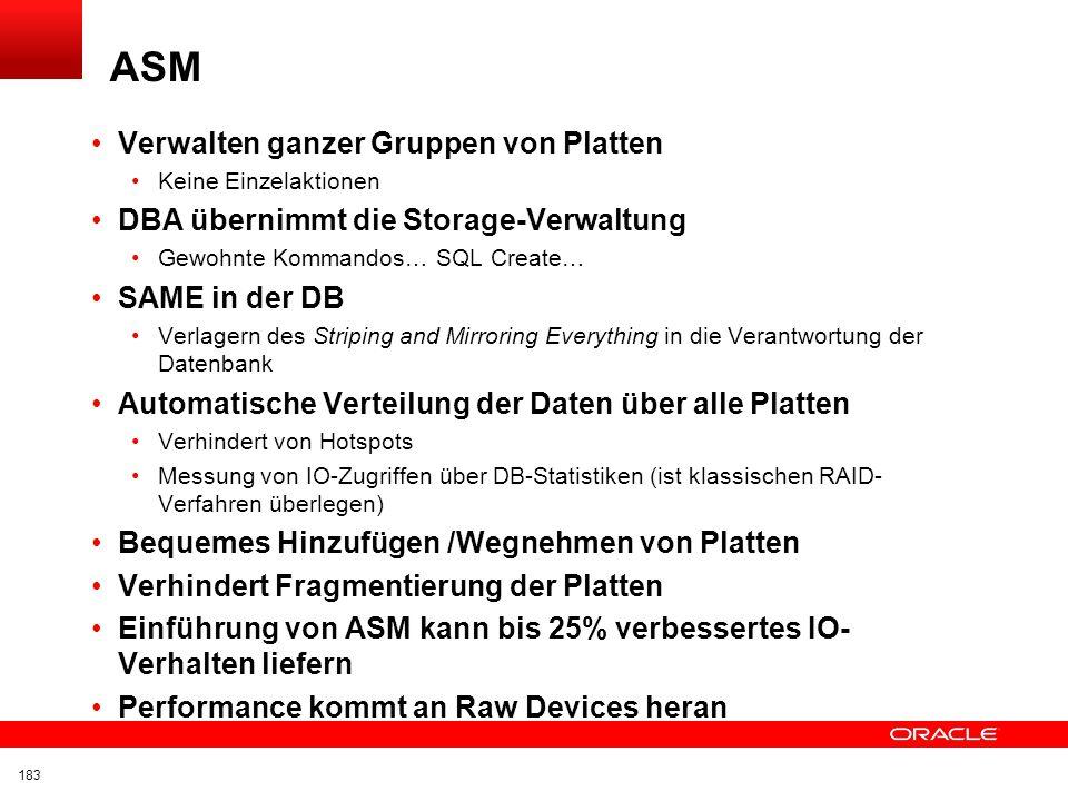 ASM Verwalten ganzer Gruppen von Platten