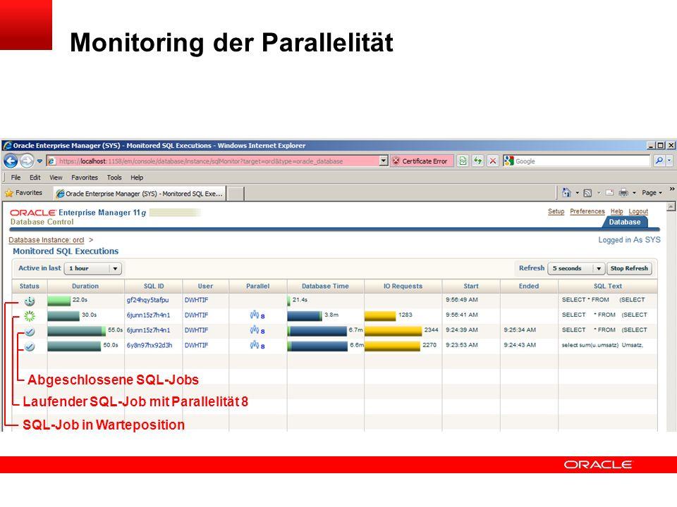 Monitoring der Parallelität