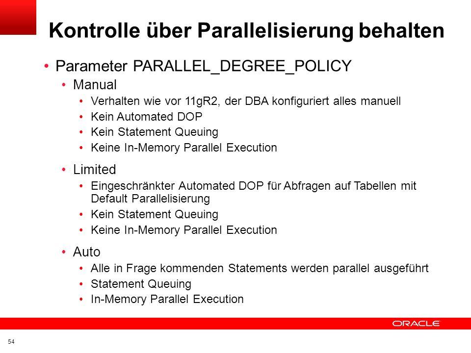 Kontrolle über Parallelisierung behalten