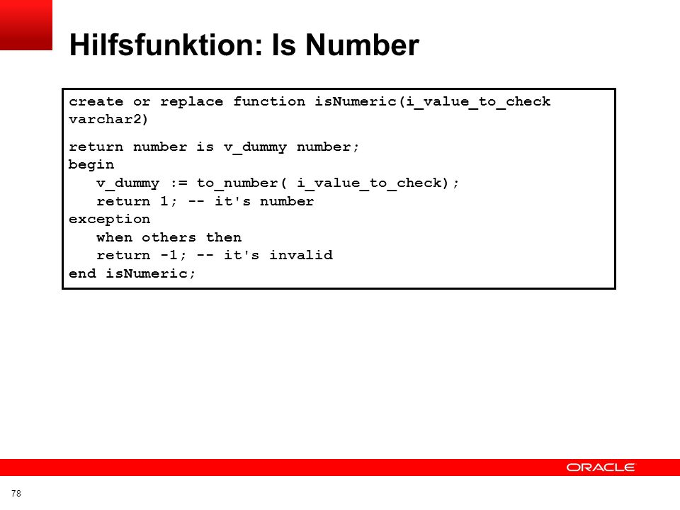 Hilfsfunktion: Is Number