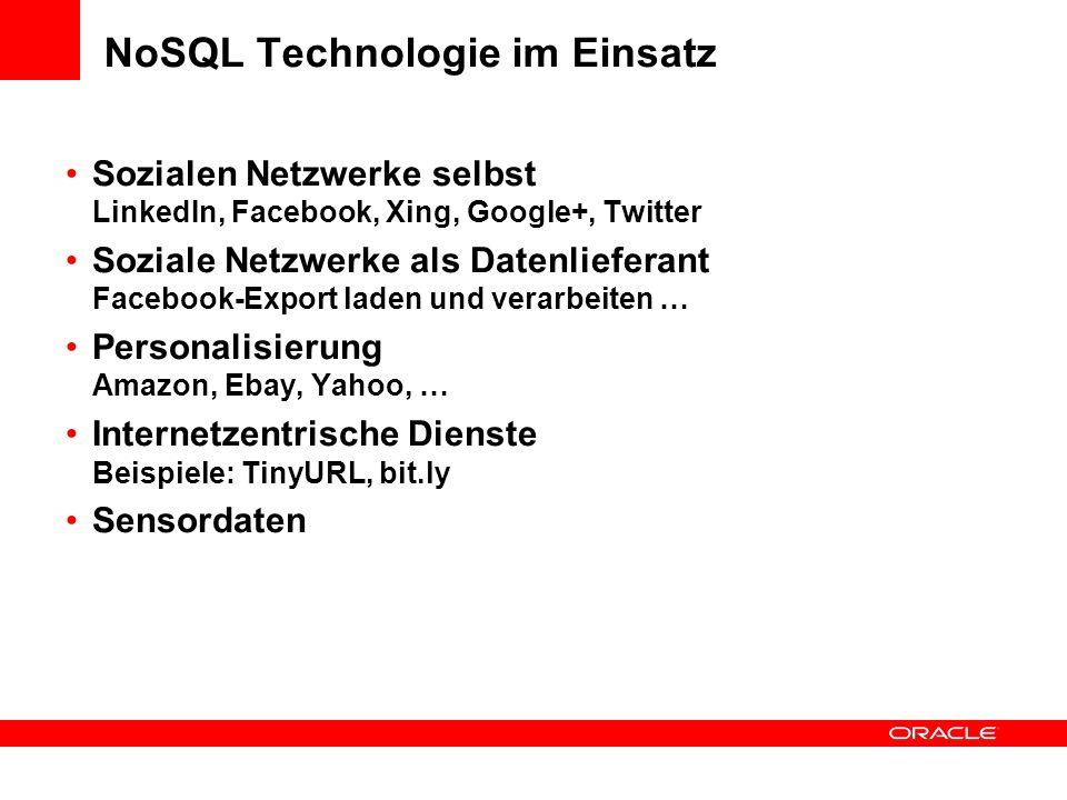 NoSQL Technologie im Einsatz