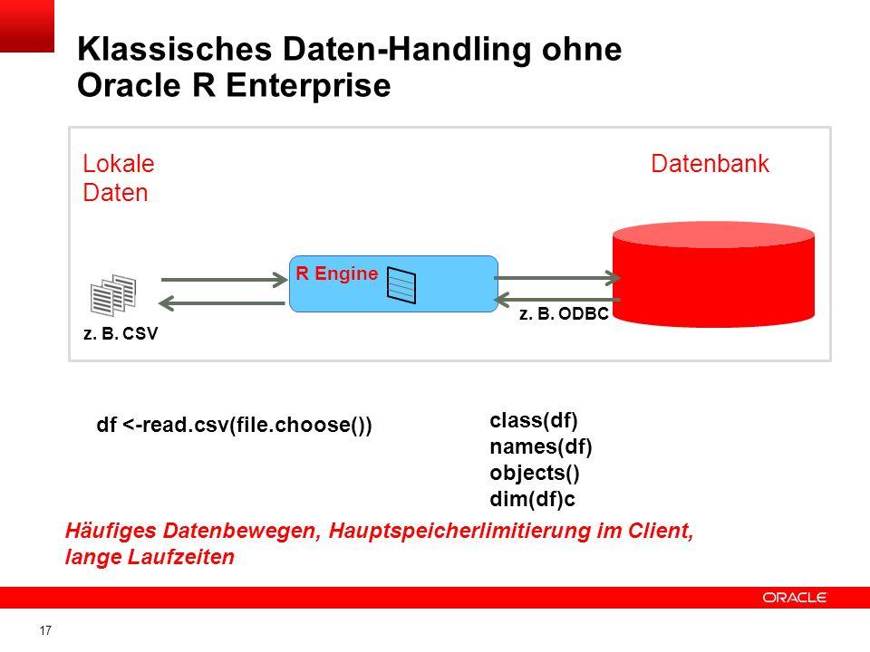Klassisches Daten-Handling ohne Oracle R Enterprise