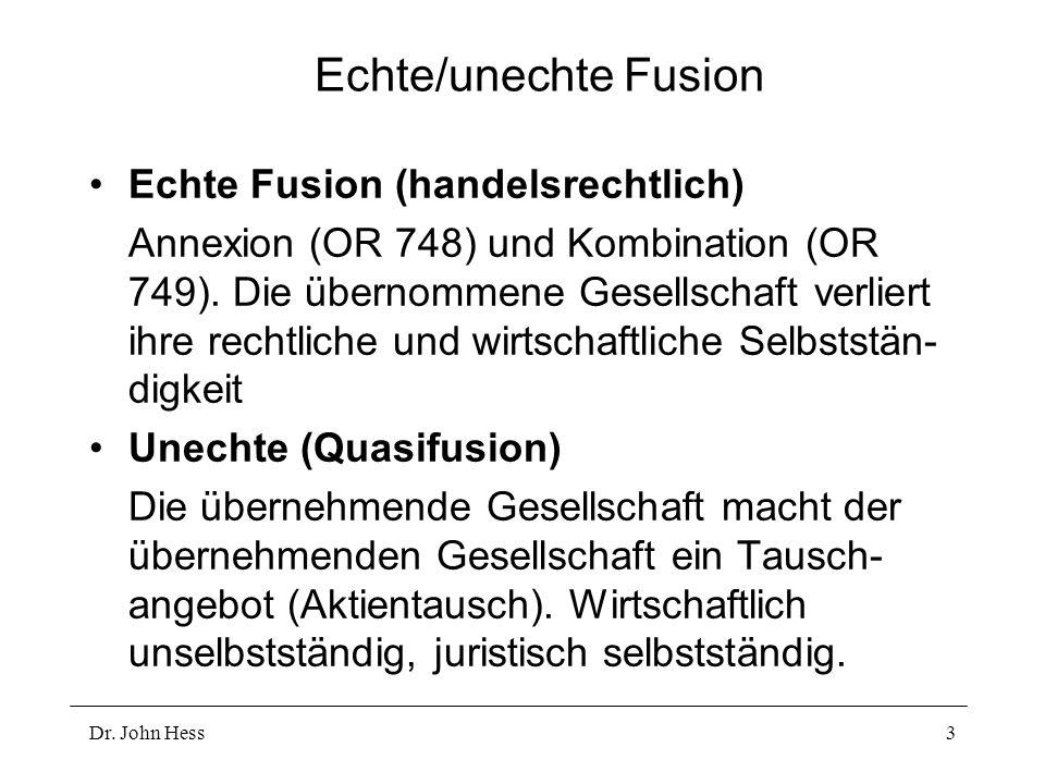 Echte/unechte Fusion Echte Fusion (handelsrechtlich)