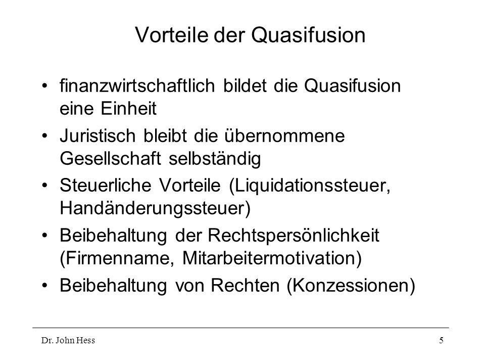 Vorteile der Quasifusion