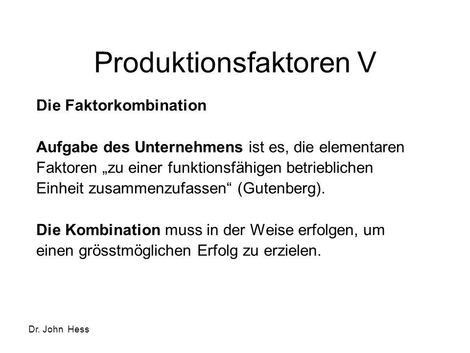Produktionsfaktoren V