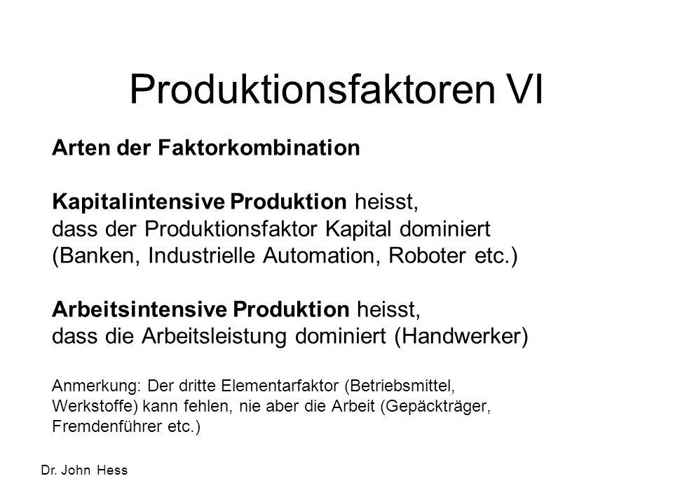 Produktionsfaktoren VI