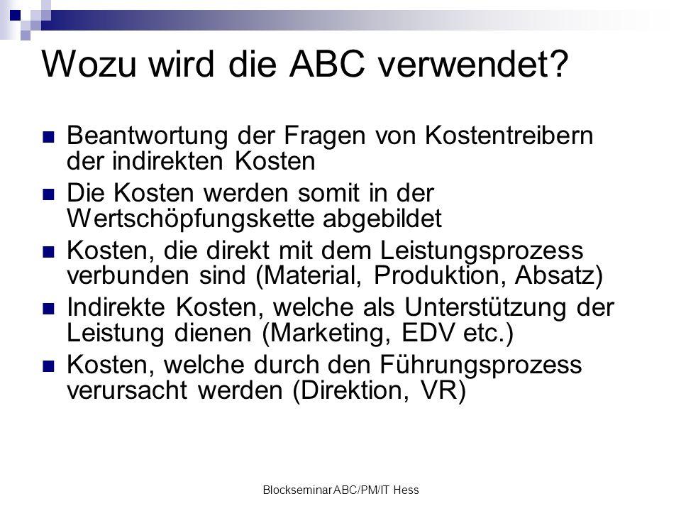 Wozu wird die ABC verwendet