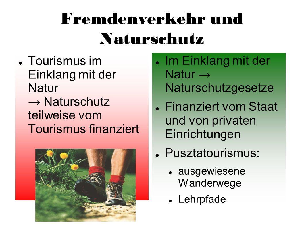 Fremdenverkehr und Naturschutz
