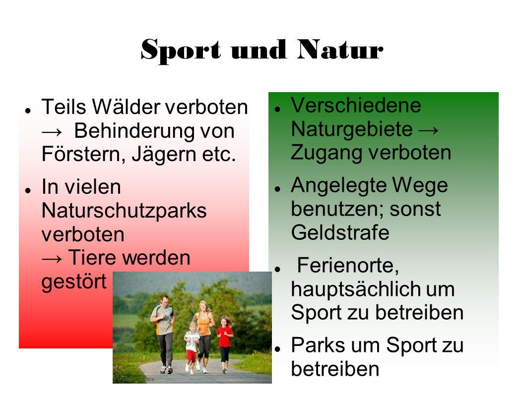 Sport und Natur Verschiedene Naturgebiete → Zugang verboten