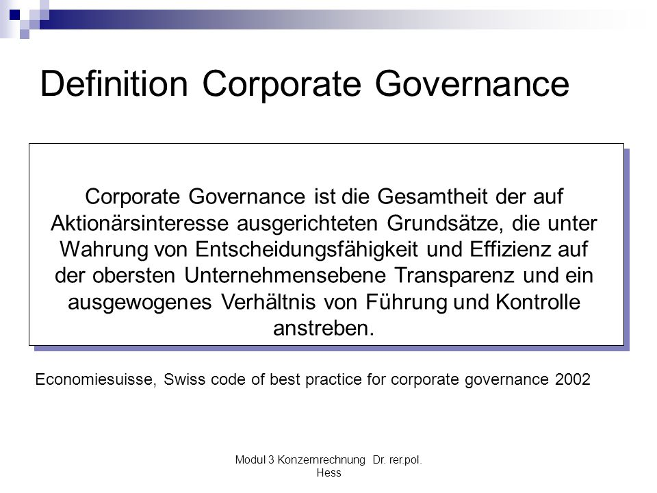 Definition Corporate Governance