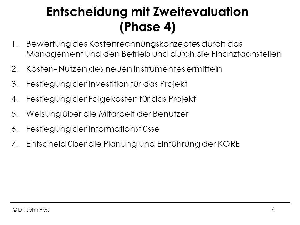Entscheidung mit Zweitevaluation (Phase 4)