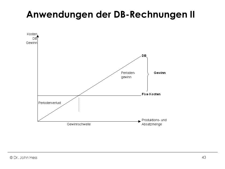Anwendungen der DB-Rechnungen II