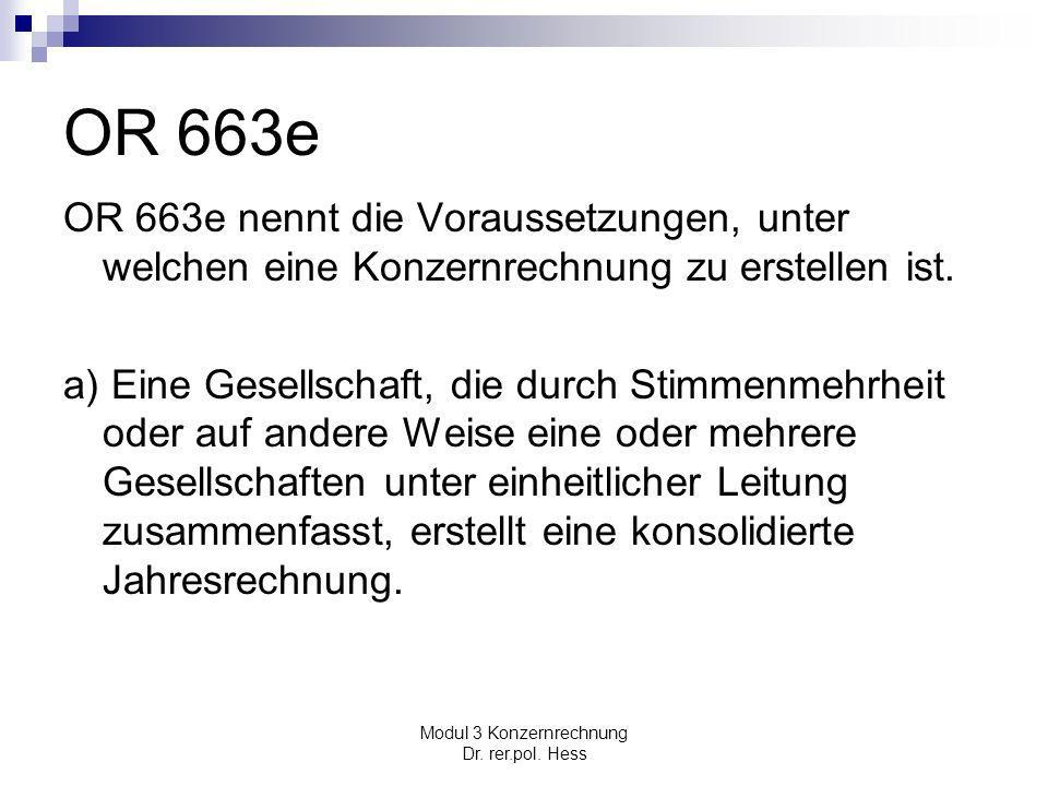 Modul 3 Konzernrechnung Dr. rer.pol. Hess