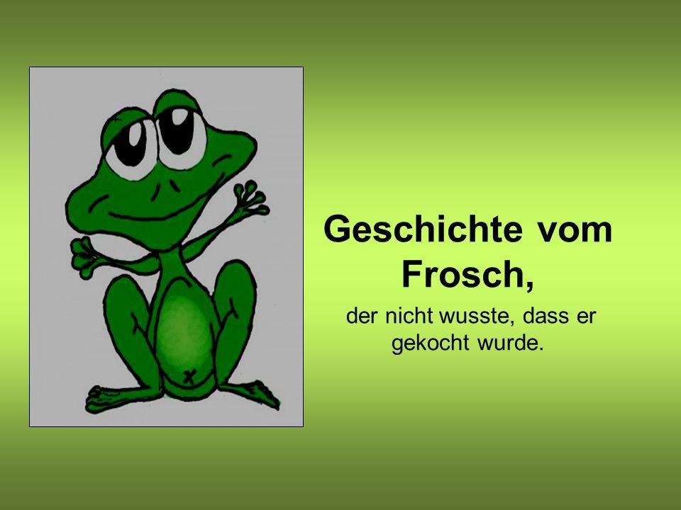 Geschichte vom Frosch, der nicht wusste, dass er gekocht wurde.