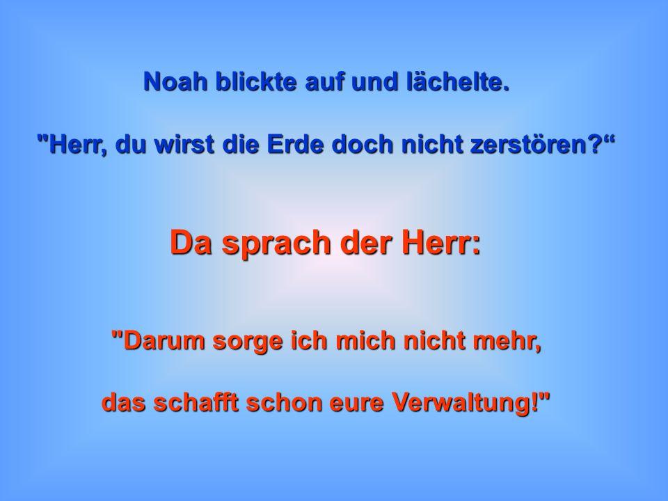 Da sprach der Herr: Noah blickte auf und lächelte.