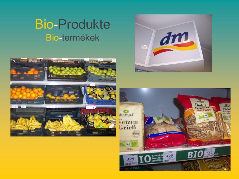 Bio-Produkte Bio-termékek
