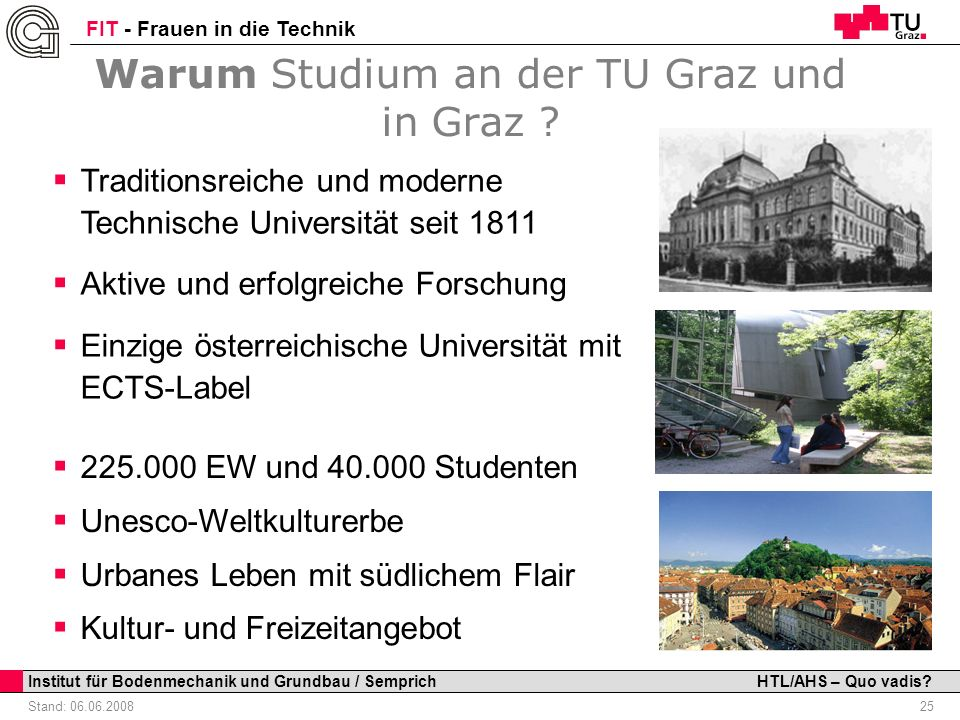 Warum Studium an der TU Graz und in Graz