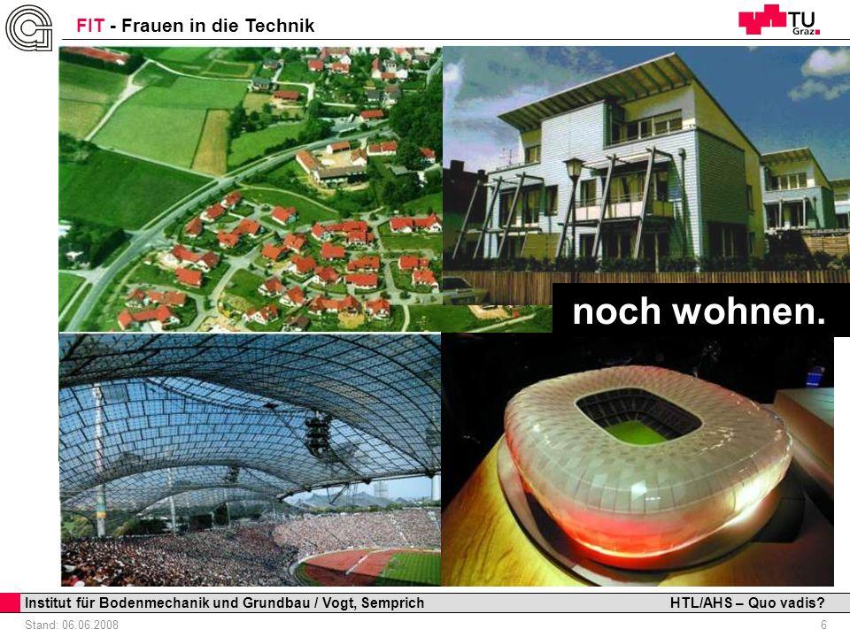noch wohnen. Institut für Bodenmechanik und Grundbau / Vogt, Semprich