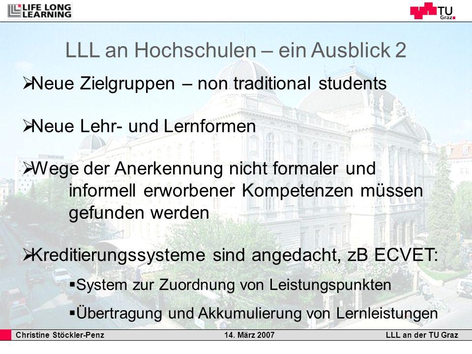 LLL an Hochschulen – ein Ausblick 2