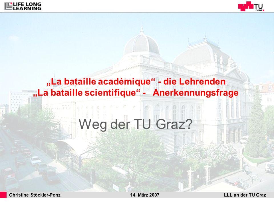 """Weg der TU Graz """"La bataille académique - die Lehrenden"""