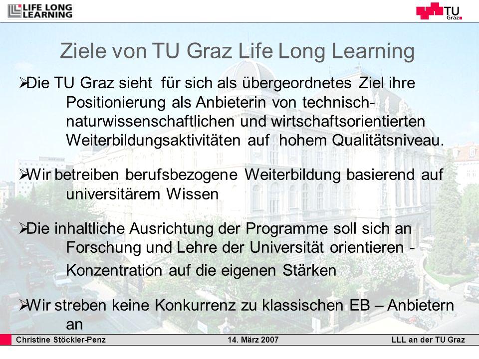 Ziele von TU Graz Life Long Learning