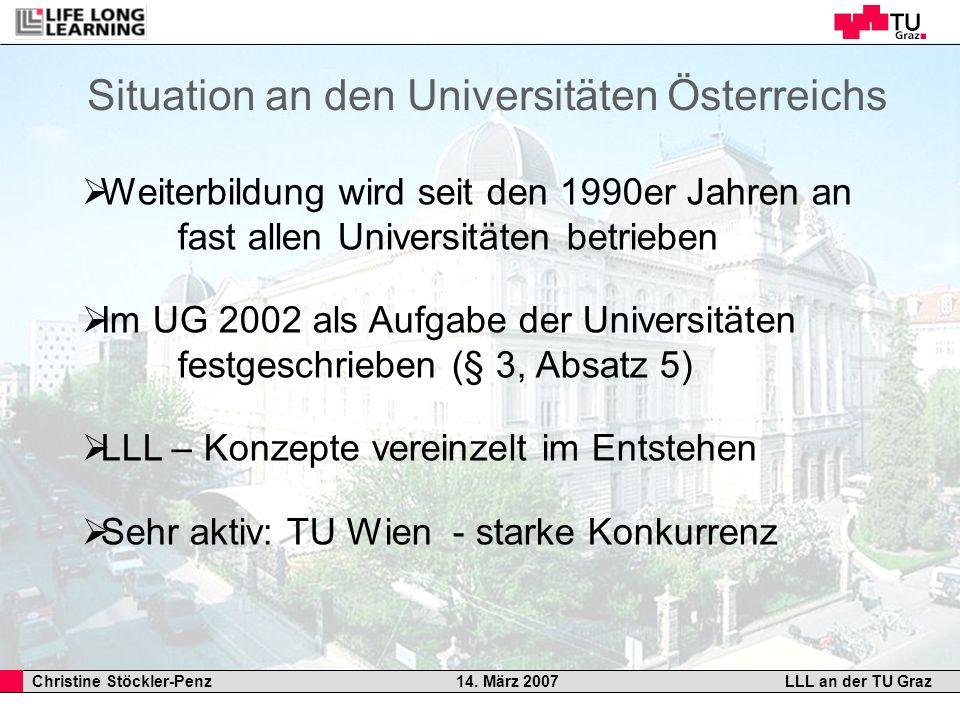 Situation an den Universitäten Österreichs