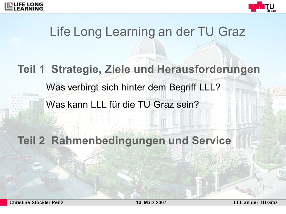 Life Long Learning an der TU Graz