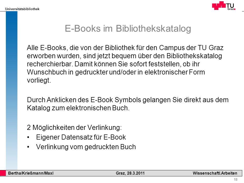E-Books im Bibliothekskatalog