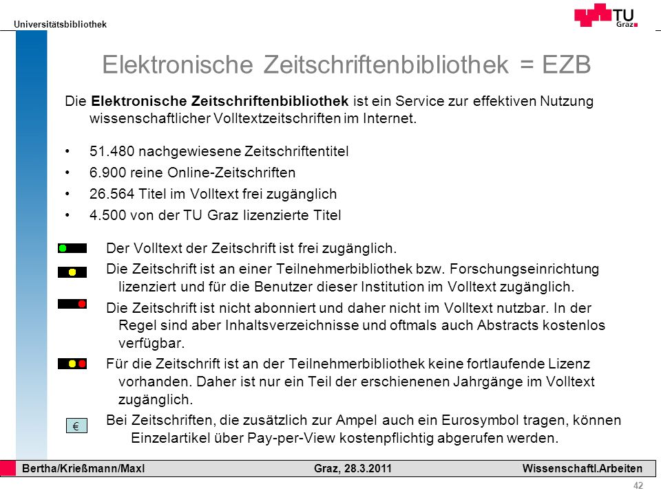 Elektronische Zeitschriftenbibliothek = EZB