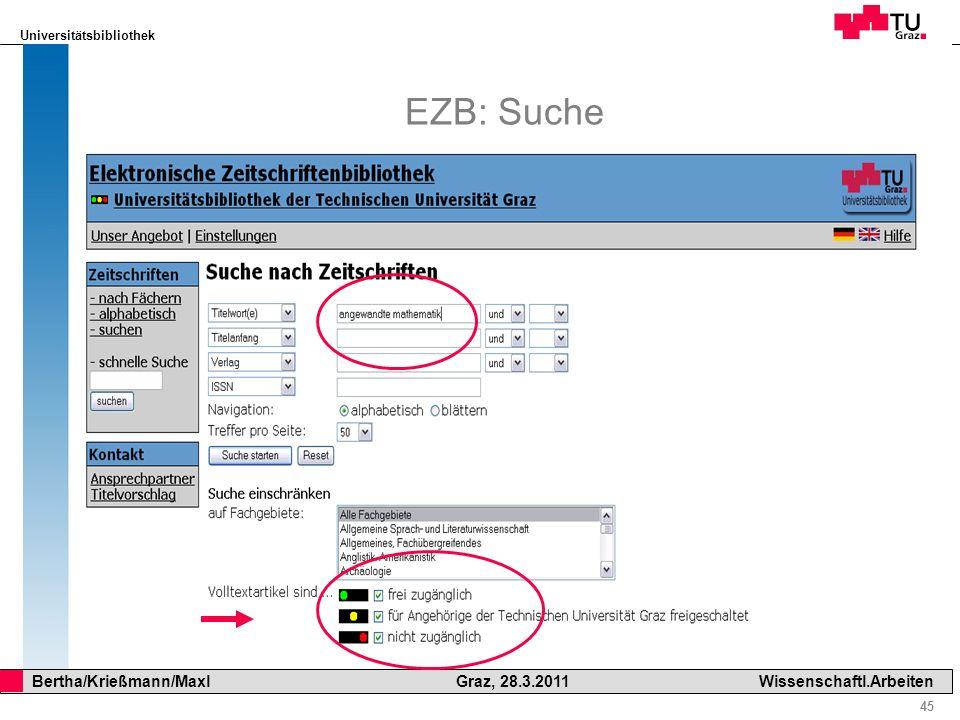 EZB: Suche Suchbereich
