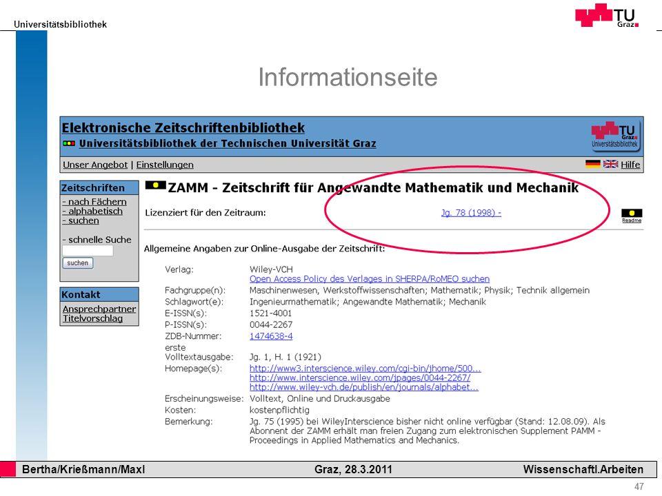Informationseite