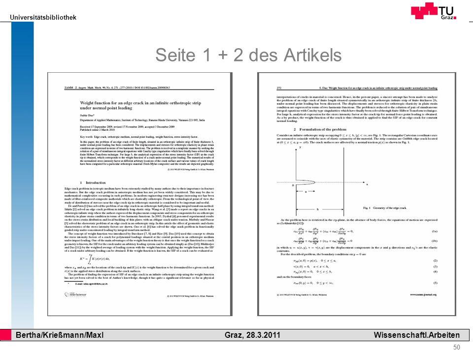 Seite 1 + 2 des Artikels