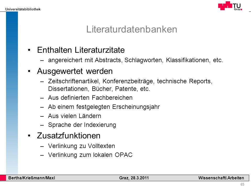 Literaturdatenbanken