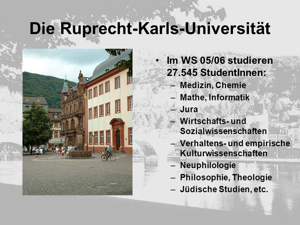 Die Ruprecht-Karls-Universität