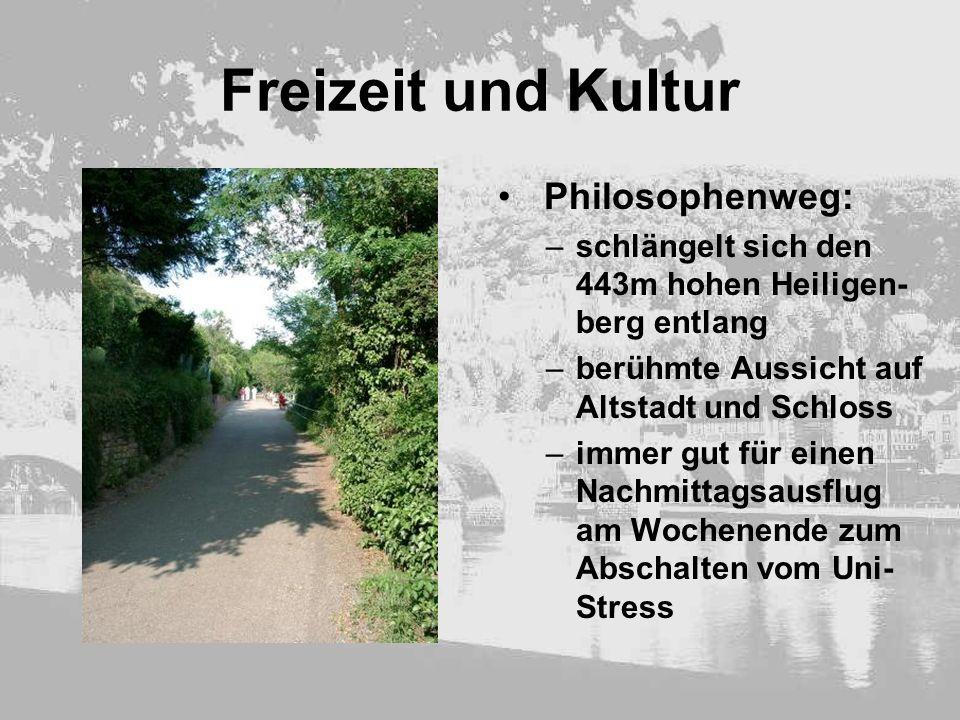 Freizeit und Kultur Philosophenweg: