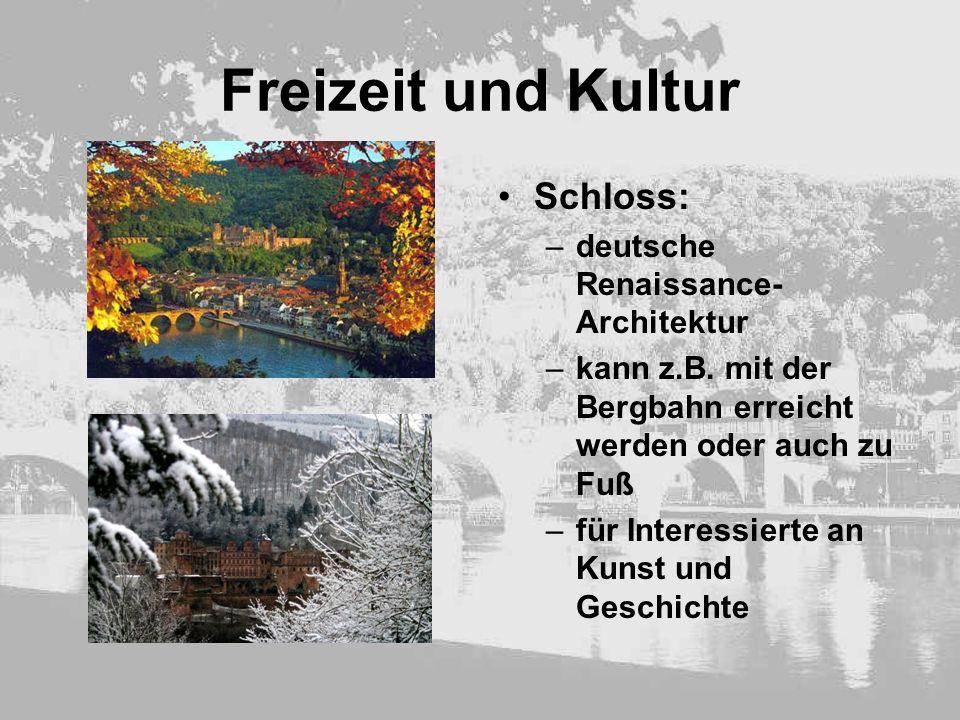 Freizeit und Kultur Schloss: deutsche Renaissance-Architektur